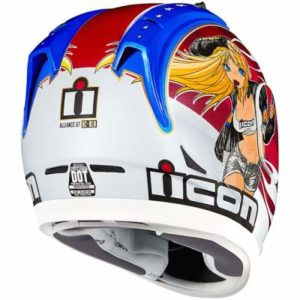 icon alliance GT DC18 Glory helmet rear view