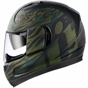 icon alliance GT operator green helmet side view