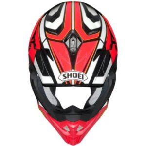 shoei vfx evo brayton motocross crash helmet top view