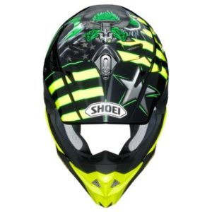 shoei vfx evo josh grant motocross crash helmet top view
