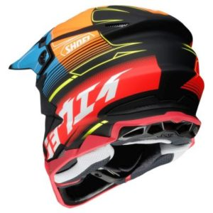 shoei vfx evo zinger motocross helmet rear view