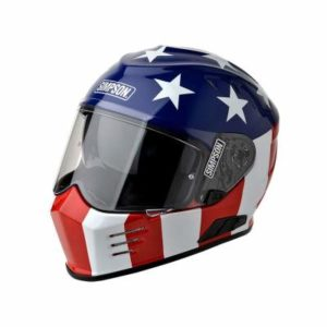 simpson ghost bandit glory crash helmet front view