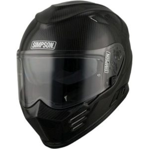 simpson venom carbon fibre full face helmet front view