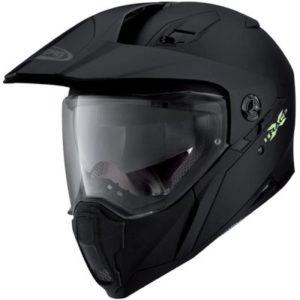 caberg x-trace matt black helmet side view