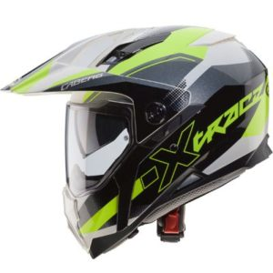 caberg x-trace spark dual sport helmet yellow grey side view