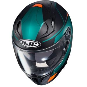 hjc i70 Karon motorbike crash helmet top view
