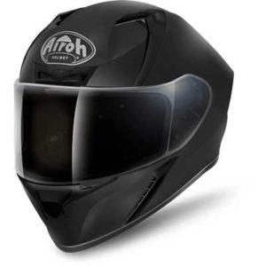airoh-valor-matt-solid-black-motorbike-helmet-front-view