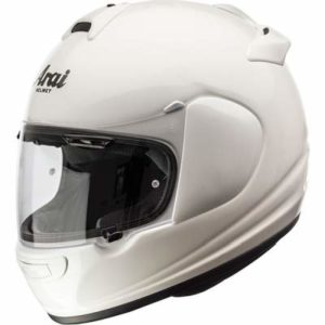 arai debut motorcycle helmet in diamond white side view