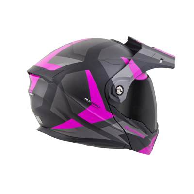 scorpion exo at950 neocon pink adventure helmet rear view