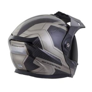 scorpion exo at950 tucson titanium adventure helmet rear