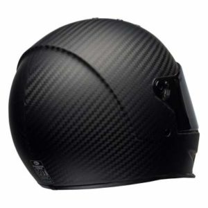 Bell eliminator motorbike helmet matt black rear view