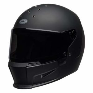 Bell eliminator motorbike helmet matt black side view