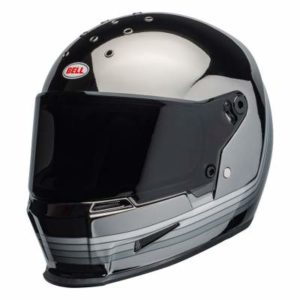 Bell eliminator spectrum black chrome motorcycle helmet front view