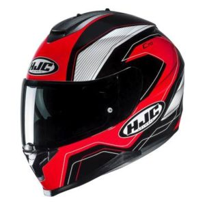 HJC C70 lianto black red motorbike crash helmet side view