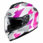 HJC C70 valon pink crash helmet side view