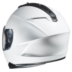 HJC-C70-white-motorcycle-helmet-rear-view