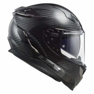 LS2 Challenger carbon fibre motorcycle helmet side view