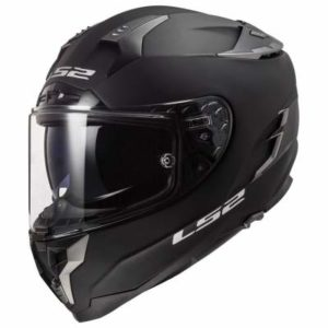 LS2 Challenger motorcycle helmet matt black side view