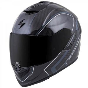 Scorpion exo-st1400 antrim grey white carbon helmet side view