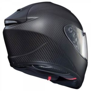 Scorpion exo-st1400 matt carbon helmet rear view