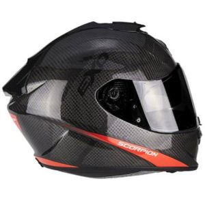 scorpion exo 1400 air carbon helmet pure red side view