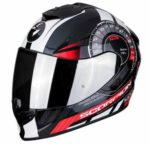 scorpion exo 1400 air torque red motorcycle helmet side view