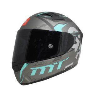 KRE Snake Carbon Gabri helmet Matt Carbon Aqua side view