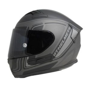 MT KRE SV Ahead helmet Matt Black Grey side view
