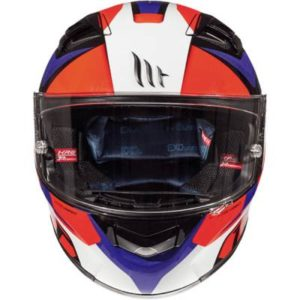 mt kre lookout white orange blue helmet front view