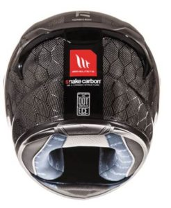 mt kre snake carbon helmet rear view