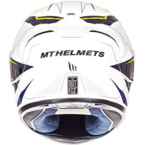 mt kre sv helmet intrepid flue yellow blue rear view