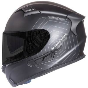 mt kre sv matt black motorbike helmet side view