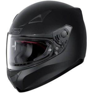 nolan n60-5 classic matt black crash helmet side view