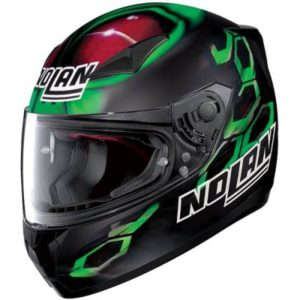 nolan n60-5 gemini Bastianini replica motorbike helmet side view