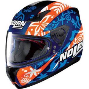 nolan n60-5 gemini Petrucci replica motorbike helmet side view
