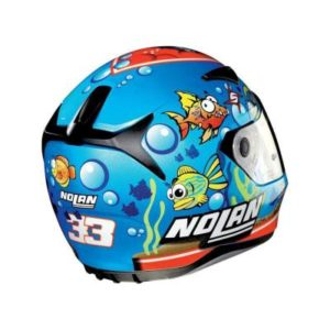 nolan n60-5 gemini melandri replica helmet rear view