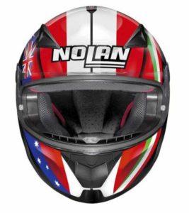 nolan n60-5 gemini replica 52 motorbike helmet front view