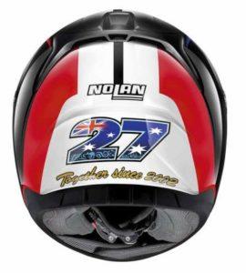 nolan n60-5 gemini replica 52 motorbike helmet rear view