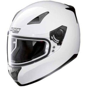 nolan n60-5 special motorbike helmet in gloss white side view