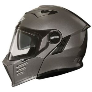 simpson darksome gun metal helmet side view