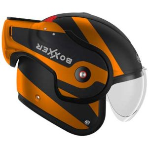 roof-boxxer-fuzo-orange-mat-black-modular-helmet-raised-chin-bar