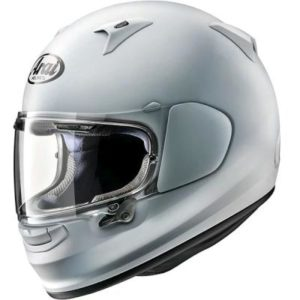 arai profile V diamond white helmet side view