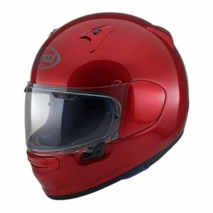 arai profile v motorcycle helmet calm red side view