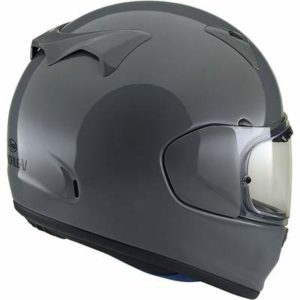 arai profile v motorcycle helmet modern grey rear view