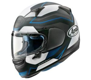 arai-regent-X-Sensation-blue-frost-helmet-side-view
