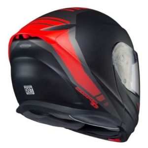scorpion exo gt920 unit modular helmet rear view