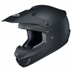 hjc cs-mx 2 matt black motocross helmet side view