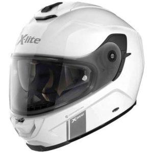 x-lite x-903 modern class metal white motorbike helmet side view