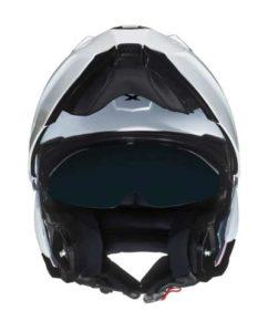 Nexx X.Vilitur plain white modular helmet front view