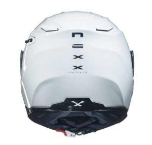 Nexx X.Vilitur plain white modular helmet rear view